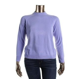 Karen Scott Womens Mock Turtleneck Knit Pullover Sweater