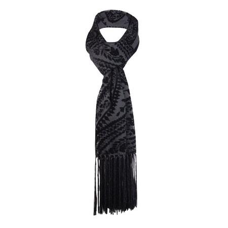 Style & Co. Women's Flocked Velvet Fringed Wrap Scarf - os