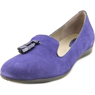Ecco Touch 15 Round Toe Leather Ballet Flats