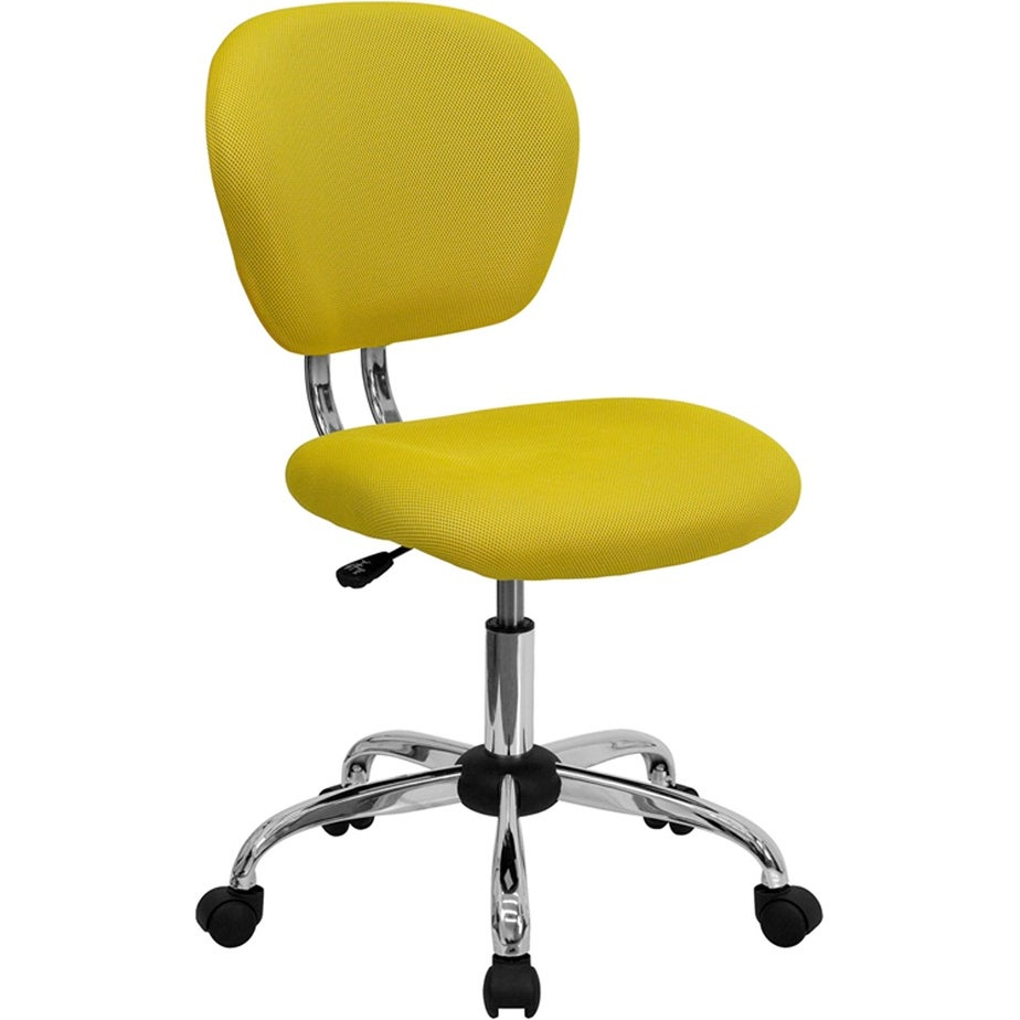 Shop Brielle Mid Back Yellow Mesh Swivel Home Office Task Chair Overstock 16627873