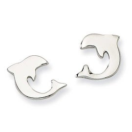Chisel Stainless Steel Polished Dolphin Post Earrings