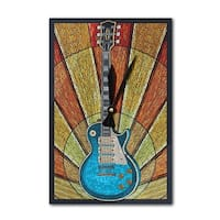 Guitar - Mosaic - LP Artwork (Acrylic Wall Clock) - acrylic wall clock