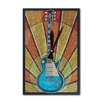 Guitar - Mosaic - LP Artwork (Acrylic Wall Clock) - acrylic wall clock