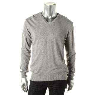 Zara Mens Knit Heathered V-Neck Sweater - XL