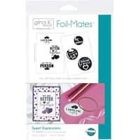 Sweet Expressions; 6 Designs/2 Each -Gina K Designs Foil-Mates Sentiments 12/Pkg