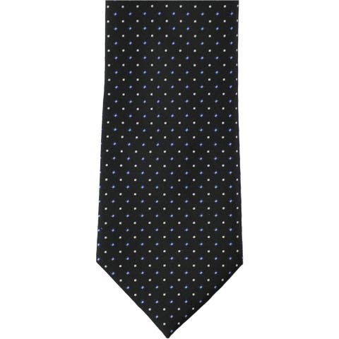 Nautica Mens Two-tone Dot Self-tied Necktie, blue, Classic (57 to 59 in.) - Classic (57 to 59 in.)