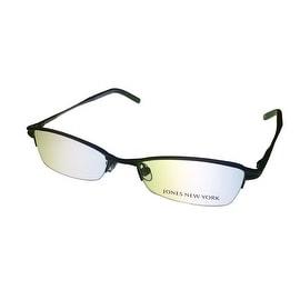 Jones New York Opthalmic Rimless Rectangle Eyewear Frame, J434 Black