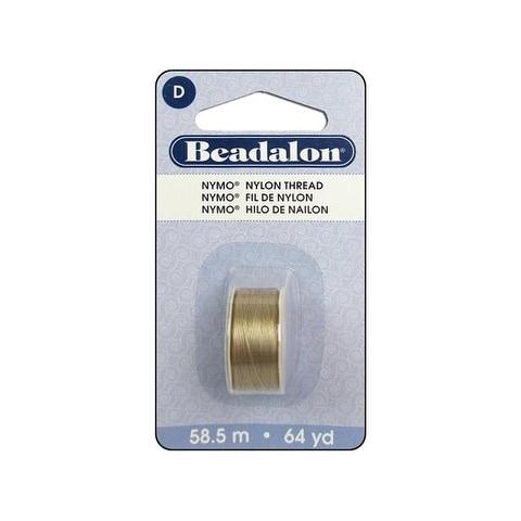 Beadalon Nymo Thread Size D Sand #2 64yd