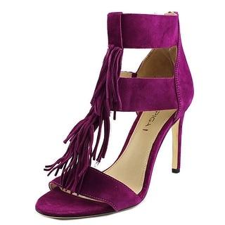 Via Spiga Eilish Women Open Toe Suede Purple Sandals