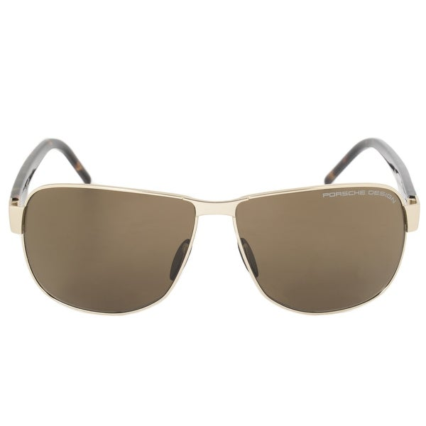 f31b778fdf Shop Porsche Design Design P8633 B 61 Aviator Sunglasses for Men ...
