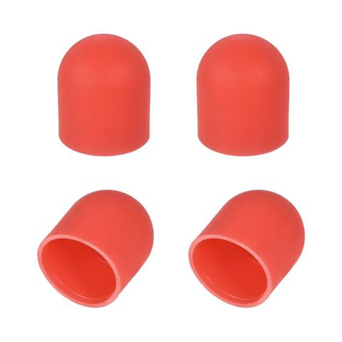 4PCS Silica Gel Motor Cover Cap Protector for DJI Spark (Red )