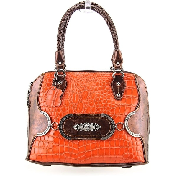 Madi Claire Makenzie Women Leather Satchel - Orange