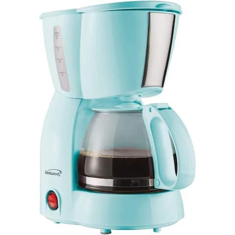 Brentwood 4 Cup Blue 650 Watt Coffee Maker