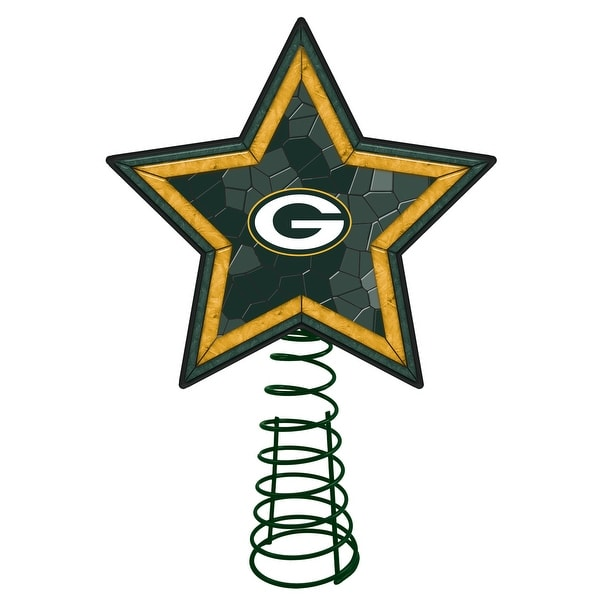 Green Bay Packers Mosaic Glass Tree Topper