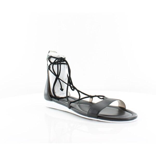 Cole Haan Or Grand Women's Sandals & Flip Flops Blk LTH/BLK SDE - 9