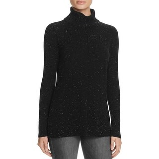 Calvin Klein Womens Pullover Sweater Marled Turtleneck