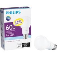 Philips 4Pk 8W A19 Led Dl Bulb