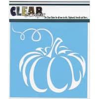 "Clear Scraps Stencils, 6 x 6"", Pumpkin"