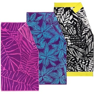 """Link to Kaufman Oversized Jacquard Beach Towel Size 40""""x 70"""" Set  of 3 Towels - Extra large Similar Items in Towels"""