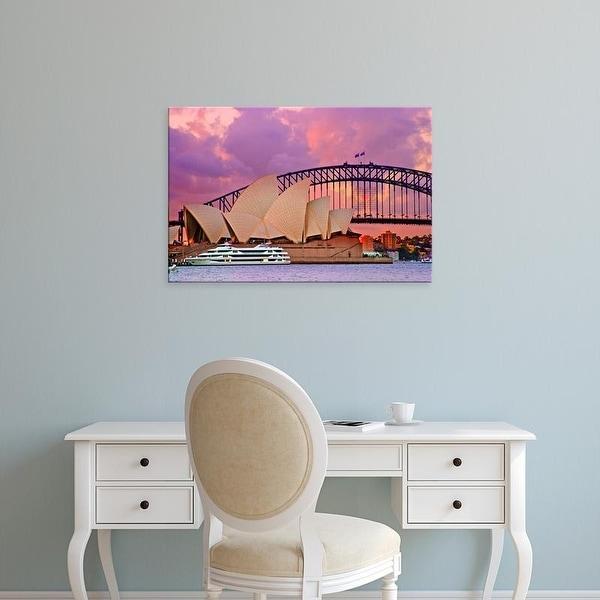 Easy Art Prints Miva Stock's 'A Blacktip Reef Shark In The Great Barrier Reef' Premium Canvas Art
