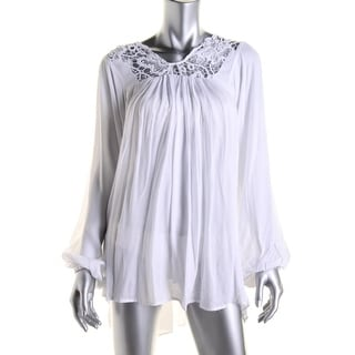 Tt Beach Womens Juliette Lace Tunic Swim Top Cover-Up - XS