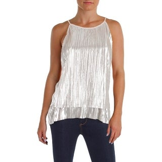 Aqua Womens Blouse Metallic Pleated (3 options available)