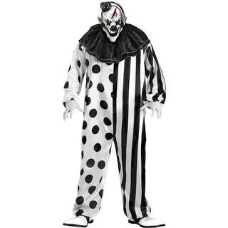 Fun World Killer Clown Adult Costume - Black/White - Standard