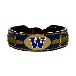 Washington Huskies Team Color NCAA Gamewear Leather Football Bracelet
