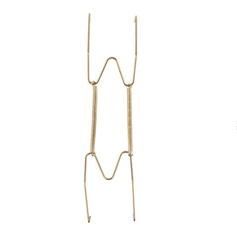 Metal 9 to 11.4 Inch Spring Plate Hangers Wall Rack Hook Stand Display Gold Tone - Gold Tone - Gold Tone