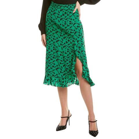 Tanya Taylor Rhea Silk Midi Skirt