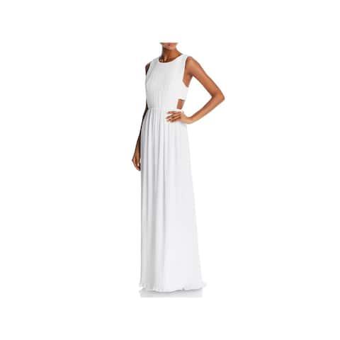 BCBG Max Azria Womens Raven Evening Dress Crinkled Sleeveless