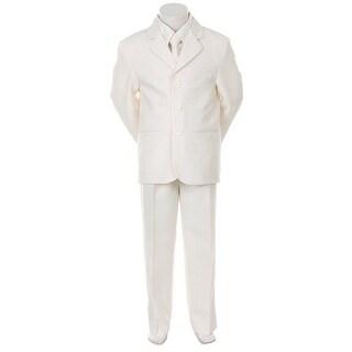 Kids Dream Ivory Necktie Vest Formal Special Occasion Boys Suit 1-4T