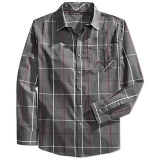 Sean John NEW Gray Mens Size Medium M Windowpane Button Down Shirt