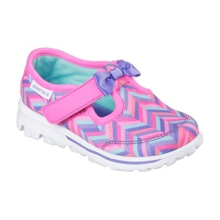 Skechers 81080 HPMT Girl's Toddler SKECHERS GOWALK - BOW STEPS Sneakers