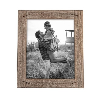 Foreside Home & Garden 8 x 10 inch Decorative Distressed Wood Picture Frame with Nail Accents