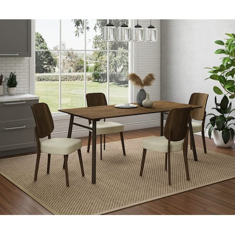 Carson Carrington Janega Mid-Century Modern Rectangular Dining Table