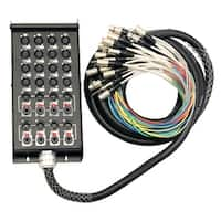 "Seismic Audio 16 Channel 25 Foot XLR Snake Cable (XLR & 1/4"" TRS Returns) Stage Pro Audio DJ"