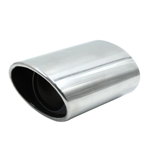 59mm Inlet Dia Universal Stainless Steel Motorcycle Scooter Exhaust Pipe Muffler