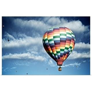 """Hot air balloon"" Poster Print"