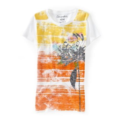 Aeropostale Womens Flower Graphic T-Shirt