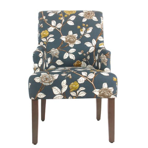 HomePop Meredith Dining Chair - Navy Floral