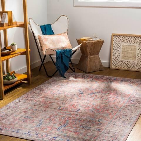 Afsoun Vintage Printed Area Rug