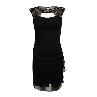 Betsy & Adam Women's Lace-Trim Cutout Bodycon Dress