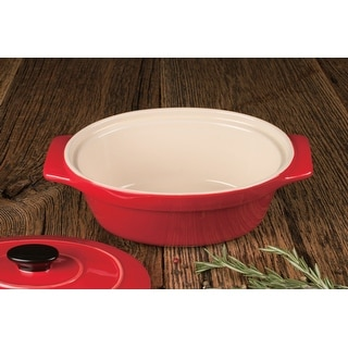 """Link to Artisan Series Bakeware MONET 10"""" Covered Oval Casserole for Cooking and Baking Similar Items in Bakeware"""