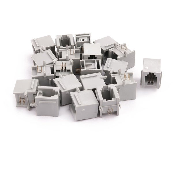 20Pcs Network Connector RJ11 4P4C Office Female PCB Mounting Modular Ethernet