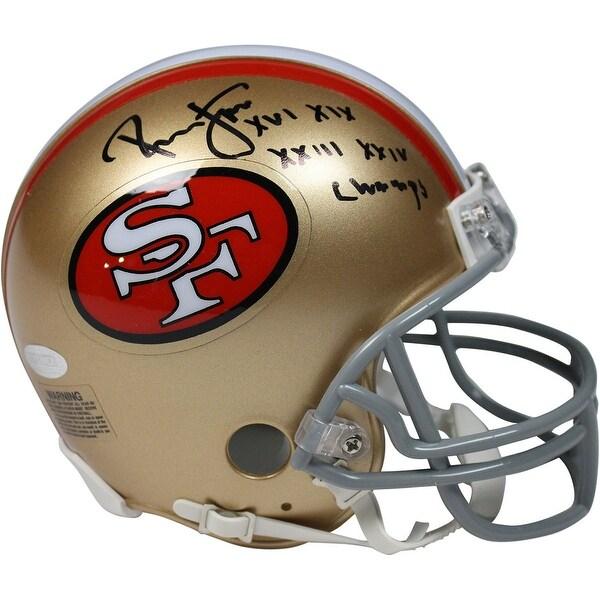 newest b1718 6e921 Ronnie Lott San Francisco 49ers Mini Helmet w SB XVI XIX XXIII XXIV Champs  Insc