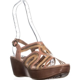 BareTraps Dangle Open Toe Wedge Sandals, Peach/Copper