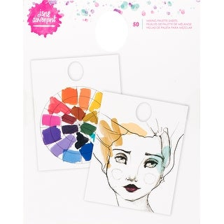 Jane Davenport Mixed Media 2 Mixing Palette Pad 50/Pkg-Waterproof Coating, 2 Designs/25 Each