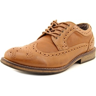 Report Deviin Men Round Toe Synthetic Tan Oxford