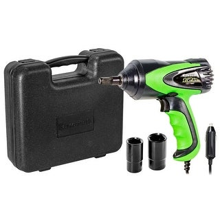 Kawasaki 1/2-Inch 12V DC Corded Impact Wrench Set Roadside Tire Changes - 841337
